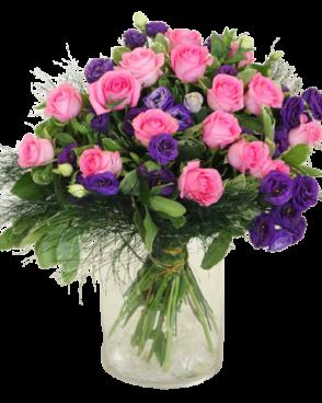 זר פרחים סומק רומנטי