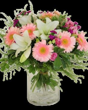 זר פרחים להולדת הבת