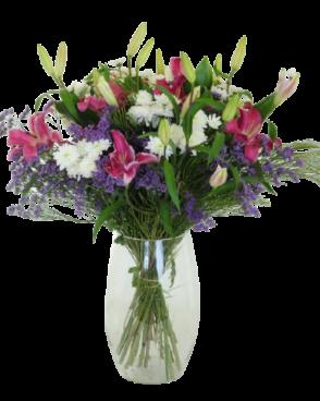 זר פרחים סגול ססגוני