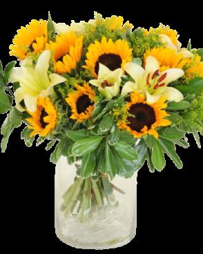 זר פרחים צהוב אביבי