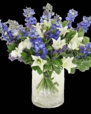 זר פרחים פריחה סגולה