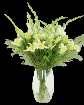 זר פרחים אלגנטי גבוה