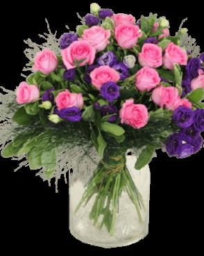 זר פרחים סומיק רומנטי