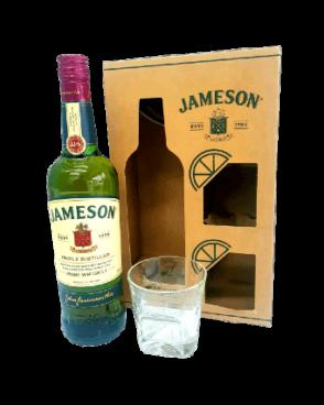 מארז ג'יימסון + שתי כוסות ווסקי