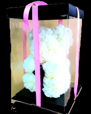 דובי פרחים לבן
