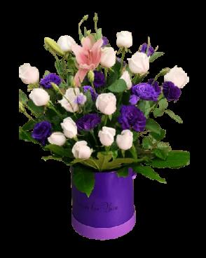 ורדים וליזיינטוס בקופסא