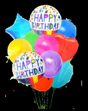 זר 15 בלונים צבעוני ליום הולדת